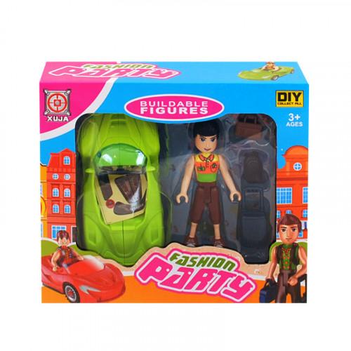 К-кт спортна кола и момче с куфари