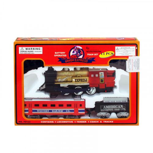 Влак с вагони и релси /11 елемента/