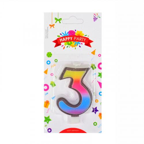 Свещички цифри - 3