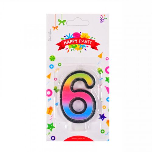 Свещички цифри - 6