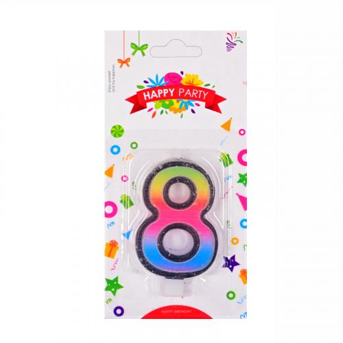 Свещички цифри - 8