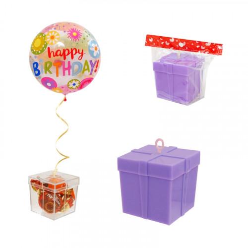 Кутийка - тежест за балони с хелий /лилав/