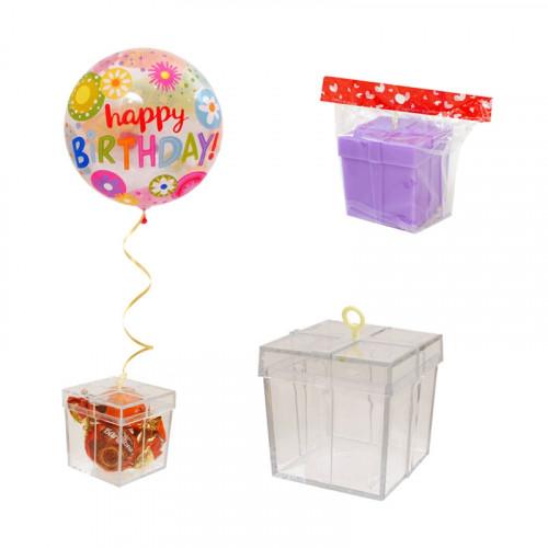 Кутийка - тежест за балони с хелий /прозрачен/