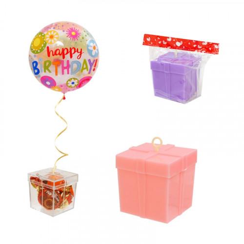 Кутийка - тежест за балони с хелий /розов/