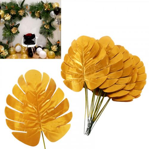 Златни палмови листа за декорация /текстил/