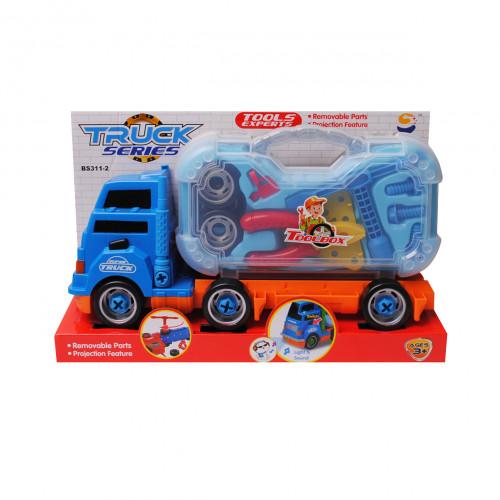 Камион с инструменти за разглобяване /син/