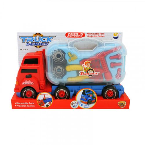 Камион с инструменти за разглобяване /червен/