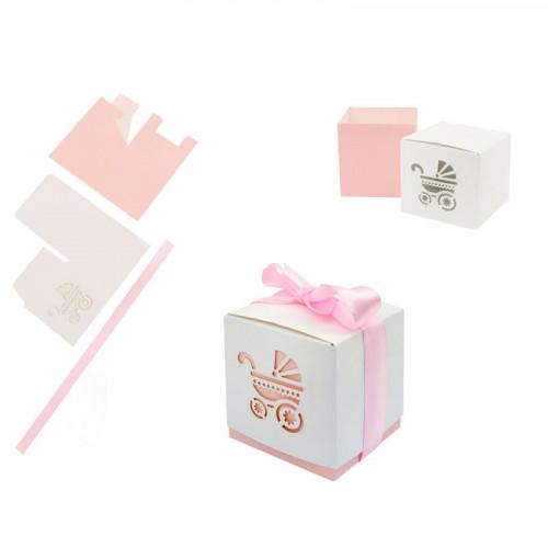 Подаръчни картонени кутийки /розов/