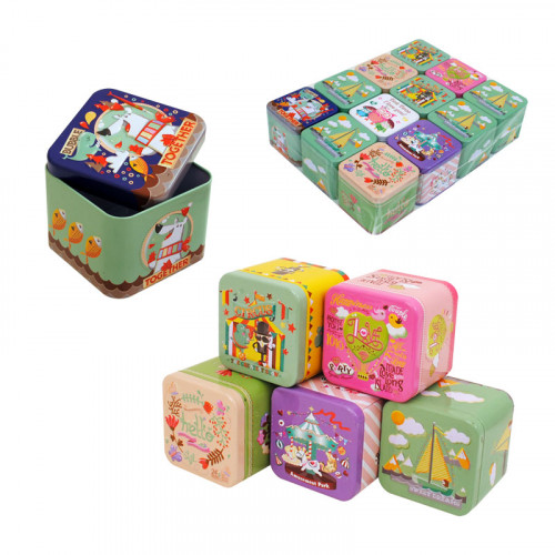 Метални детска кутия /12 броя в опаковка - микс/
