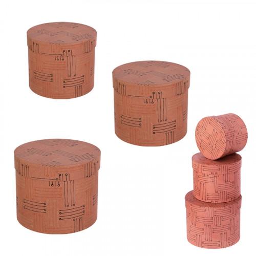 Подаръчна кутия цилиндър 3 в 1