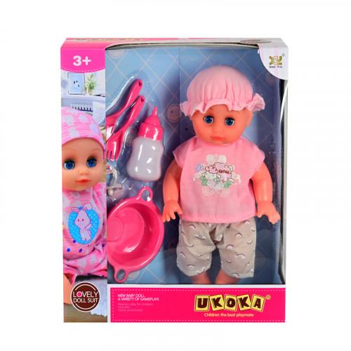 Бебе с шише и аксесоари /с машинка/