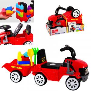 Трактор за бутане с ремарке и конструктор